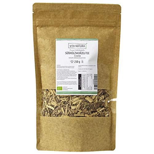 Vita Natura Süßholzwurzel Tee, loser Arzneitee, Bio, 1er Pack (1 x 250 g) - Süßholz-wurzel-kräuter-tee