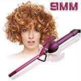 9mm Unisex Curling Iron Wand Professional Super Tourmaline Ceramic Barrel Small Slim Tongs Hair Roller Curler Crimper Iron New styling wand for Travel Vacation Best Mother Christmas Gift (9mm Super Slim, Purple)