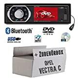 Opel Vectra C charcoal 1-DIN - Autoradio Radio Caliber RDD773BT - Bluetooth | DVD / CD | MP3 | USB | SD | TFT - Einbauzubehör - Einbauset