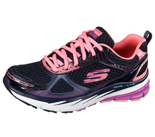 Skechers Relaxed Fit Optimus ricarica Womens Sneakers Navy/Pink