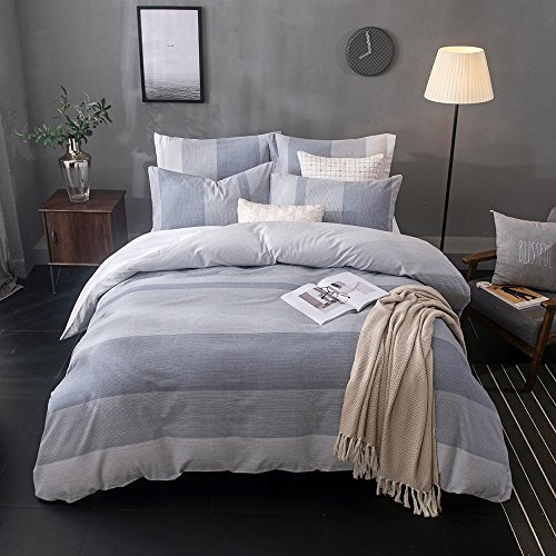 Merryfeel 100% Baumwolle Garn gefärbt Bettwäsche-Set - (Superking Set) 260x220+2x50x75cm