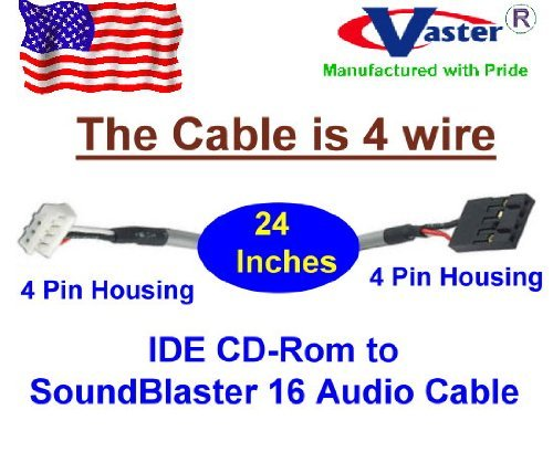 VasterCable 50 Pcs / Pack - 24Inches MPC CD-ROM Audio Cable