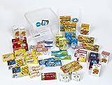 1 grande boîte à provisions garnie de miniatures de marques francaises. 39 boites en carton solide de différentes tailles. Notre grand set comporte une carte de crédit factice permettant de jouer, apprendre à compter et scanner tous les produits mina...