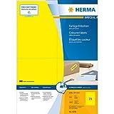 Herma 4256 Universal-Etiketten (A4 Papier matt, 105 x 37 mm) 1600 Stück gelb