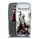 Head Case Designs Ufficiale Assassin's Creed Connor Ascia III Arte Chiave Cover Morbida in Gel per Nokia 106 (2018)
