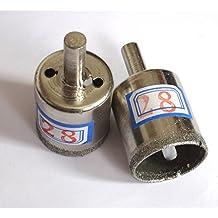 3 piezas 28 mm (2,87 cm latencia de transición) con revestimiento de diamante para sierra perforadora eléctrica core de brocas para azulejos