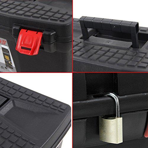 Kunststoff Werkzeugkoffer ERGO Basic 27″, 60x34cm Kasten Werzeugkiste Sortimentskasten Werkzeugkasten Anglerkoffer - 3