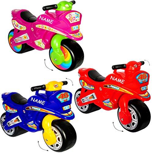 alles-meine.de GmbH XL Kinderlaufrad -  Motorrad - Jungen Farbe  - Incl. Name - Lauflernrad - Fü..