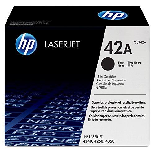 HP 42A Schwarz Original LaserJet Tonerkartusche - Schwarz, Smart Druckkassette