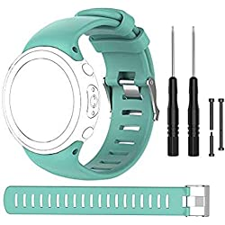 Bemodst Suunto D4Sangle de Novo Bracelets, bandes de remplacement en silicone avec des outils d'extraction pour Suunto D4/D4i montre, bleu sarcelle
