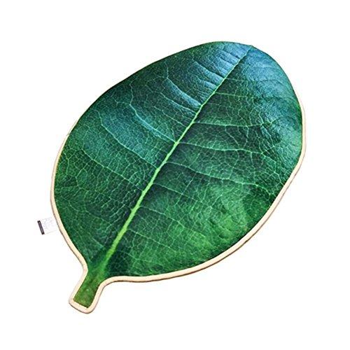 L&LQ Simulation grünen Baum Blatt Anti-Rutsch-Teppiche Schlafzimmer Küche Nachttisch dekorative Matten, medium 130x70cm