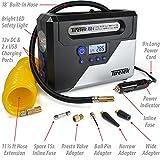RX-i Digital Car Tyre Inflator Pump - 12v Portable Air Tool Compressor With Auto Cut Off FREE Bonus Deluxe Carry Case