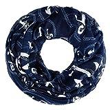 zeitloser Damen Schlauchschal mit Anker, Loop-Schal Rundschal Tube Infinity Scarf Autiga® navy