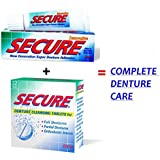 SECURE Denture Adhesive Cream 20 gms Plus SECURE Denture 32 Tablets Box