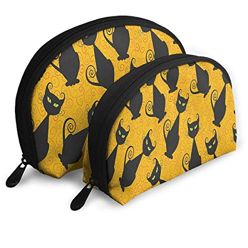Black Cat for Halloween Handy Cosmetic Pouch Clutch Makeup Bag. (Claire Zubehör Halloween)