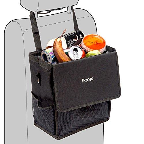 iKross Auto Mülleimer, Wasserdicht Auto Abfalleimer Abfalltasche Tragbar Autositztasche für Kfz Pkw