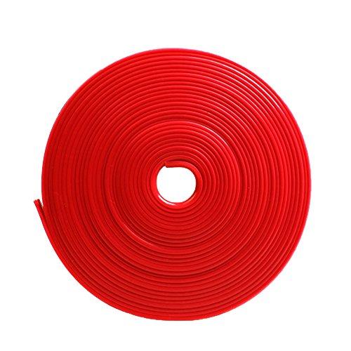 Vococal 8m 26ft Länge Universelle Stil Auto Felgenband Radnabe Kante Ring Selbstklebende Protektoren-Band Felgenrandaufkleber, Rot (Auto-subwoofer-aufkleber)