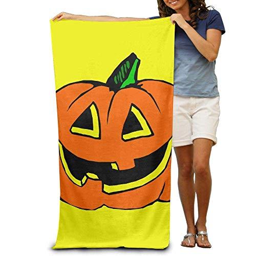 Asciugamani da spiaggia lenzuoli da bagno sorriso artistico zucche di halloween asciugamani da spiaggia design morbido ed ecologico design camping spiaggia, non tossico 80x130 cm