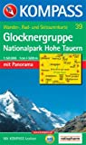 Glocknergruppe, Nationalpark Hohe Tauern: Wander-, Rad- und Skitourenkarte. Mit Panorama. GPS-genau. 1:50.000 - 39 KOMPASS