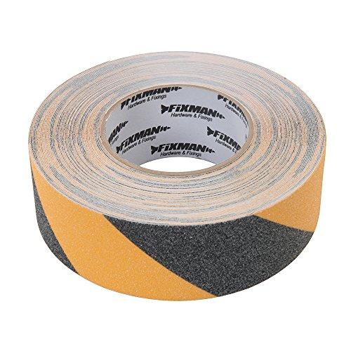 Silverline tools fixman 190583 nastro anti-scivolo 50 mm x 18 m nero/giallo
