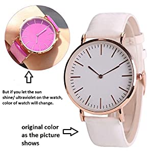Krupa Enterprise Analogue White Dial Women's Watch