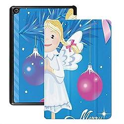 Feuer 8 Hd Tablet Abdeckung Vektor Gruß Weihnachtskarte Engel Spielzeug Fällen Für Feuer Tablet Hd 8 (2018 2017 2016 Release, 8./7 ./6. Generation) Mit Auto Wake/Schlaf