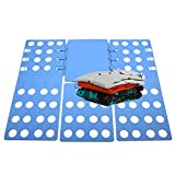 ETiME einstellbar Wäsche Faltbrett 3. Generation Hemdenfalter Pullover Hosen Falthilfe Wäschefaltbrett Hemdenfalter Wäsche Ordner Blau