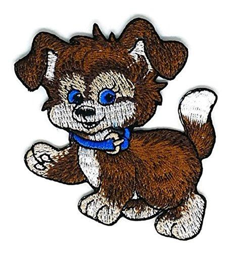Stickerei Hund Cartoon bestickt Aufnäher Bügelbild Handarbeit Baby Kinder Mädchen Frauen Kleidung DIY Kostüm Zubehör (Kostüme Für Hunde Diy)