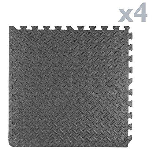 Fliesen-heizungs-matte (Tolsen - Schutzmatten aus EVA Schaumstoff 600x600 mm Matte für Sicherheit Übung spielen Anti-Müdigkeit 4Stück)