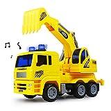 Nuheby Scavatrice Escavatore Camion Grande Macchinine Giocattolo da Costruzione per Bambini Regalo Ragazza Ragazzo 3,4,5,6 Anni