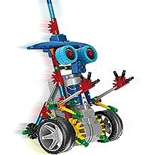 HAHAone robótica Juegos de construcción juguetes de la ciencia para los niños, de la Asamblea de los bloques huecos Ladrillos Robot Kit de bricolaje juguete, motor con pilas, rompecabezas 3D Diseño Extranjero de Primates del robot Figura (azul)