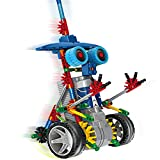 HAHAone robotics building sets science toys for kids , Assembly Building Blocks Bricks Robot DIY Toy Kit,Battery Motor Operated, 3D Puzzle Design Alien Primate Robot Figure (Blue)