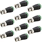 UHPPOTE CAT5/CAT6 Terminal To BNC Male Coaxial Video Balun Connector Adapter Plug (Pack Of 10)