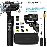 Hohem iSteady Pro 2 Gimbal 3-Axis Stabilizer for Action Camera Gopro Hero 7/6/5/4/3+/3,Sony RX0,Yi Cam 4K,AEE,SJCAM,DJI OSMO Actioncam, Splashwaterproof,with Tripod and extra Extension Rod