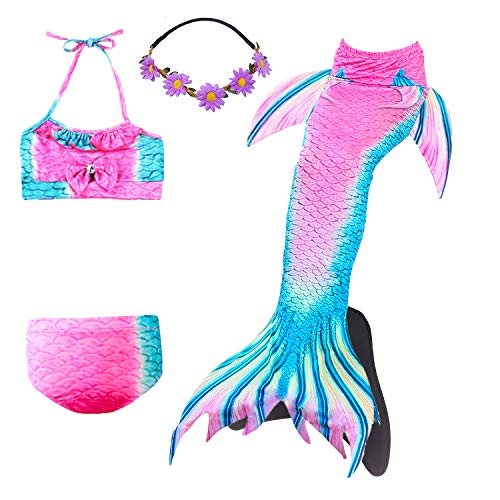 COZY HUT 2019 Meerjungfrau Schwanz mit Meerjungfrau Badeanzug Schwanzflosse Zum Schwimmen Kostüm Für Kinder Mädchen