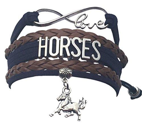 Infinity Collection Pferd Charm Unendlichkeit Armband, Pferdeliebhaber Equestrian Schmuck für ihre Regulär (Erweiterbare Armbänder Mit Charms)