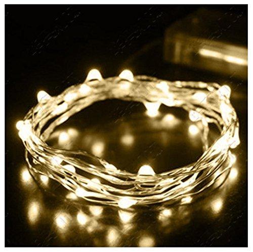 Malloom® 2M Cadena de luz de hadas 20 LED luces de la batería operada Navidad Fiesta Boda