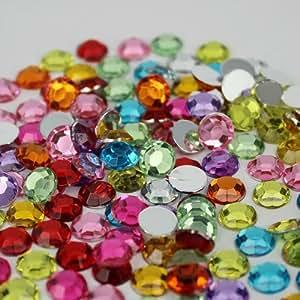 Generic 8 : A Deree 10000pcs 1.5mm Acrylic Rhinestone Flatback Silver Foiled Rhinestones For Nails Phone Case Bling Bling Diy Beads