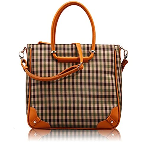 LXL KIU Plaid Tote/Casual fashion canvas shoulder bag