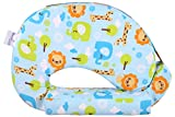 #7: MomToBe Blue Animal Feeding Pillow with front pocket - HD Foam 100% Cotton Fabric