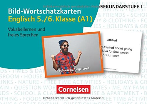 Bild-Wortschatzkarten Fremdsprachen Sekundarstufe I. Englisch Klasse 5/6 - Für Vokabellernen und freies Sprechen (Stufe A1): 300 Bildkarten