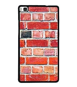 Fuson Designer Back Case Cover for Huawei P8 (House Home Residence Shop Indian Village)