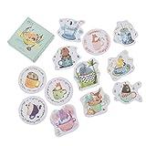 Hongma Aufkleber Cartoon Tiere Sticker für Craft Diary Scrapbook Album DIY Dekor Verschiedene Stile