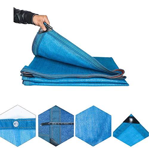Zeltplanen XUERUI Markise Baldachin Sonnencreme Schattenstoffnetz Zum Garten Gewächshaus Balkon Wärmeisolierung UV-beständiges Netz (Color : Blue, Size : 4x7m) - Zelt Wachsen 3x4