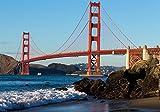 Fototapete Golden Gate Bridge USA Amerika San Francisco XL 350 x 245 cm - 7 Teile Vlies Tapete Wandtapete - Moderne Vliestapete - Wandbilder - Design Wanddeko - Wand Dekoration wandmotiv24