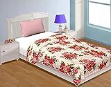 #2: Ideal deals Floral Polycotton double bed Size Dohar multicolor