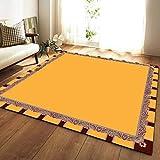 YSX-carpet Area Tappeto, Tappeto Camera da Letto Lavabile, tappezzeria Super Soft Tappeto Quadrato Soggiorno, Tappetino Yoga Tappeto Antiscivolo per Bambini,M7,5.2ftx3.9ft