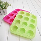Nicebuty cake Tools fondant silicone cucina Bakeware metallo antiaderente 12 tazze cupcake teglia mousse cake Mold muffin pan