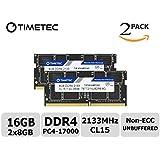 Timetec Hynix IC 16GB Kit (2x8GB) DDR4 2133MHz PC4-17000 Unbuffered Non-ECC 1.2V CL15 2Rx8 Dual Rank 260 Pin SODIMM Laptop / Notizbuch Arbeitsspeicher Module Upgrade (16GB Kit (2x8GB))