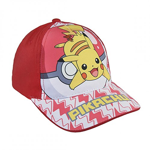 Gorra de tela adaptable Pokemon Pikachu Roja (2200002845)